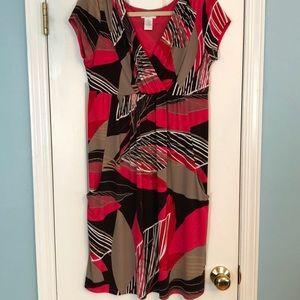 Dresses & Skirts - Magenta Pink & Tan Pattern Dress